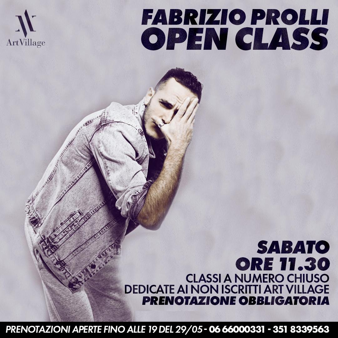 OPEN CLASS CON FABRIZIO PROLLI