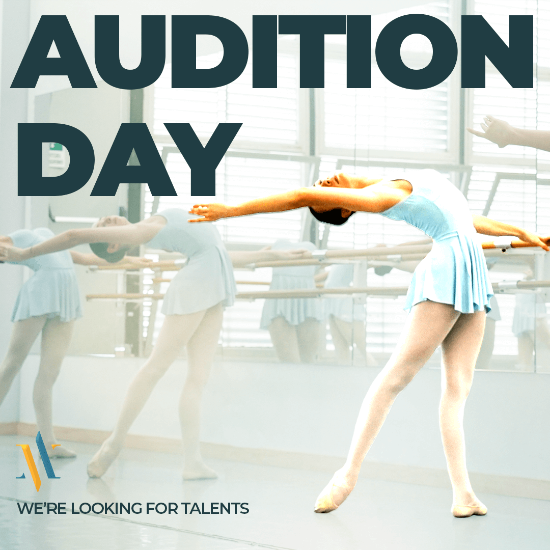 AUDITION DAY – we're looking for talents