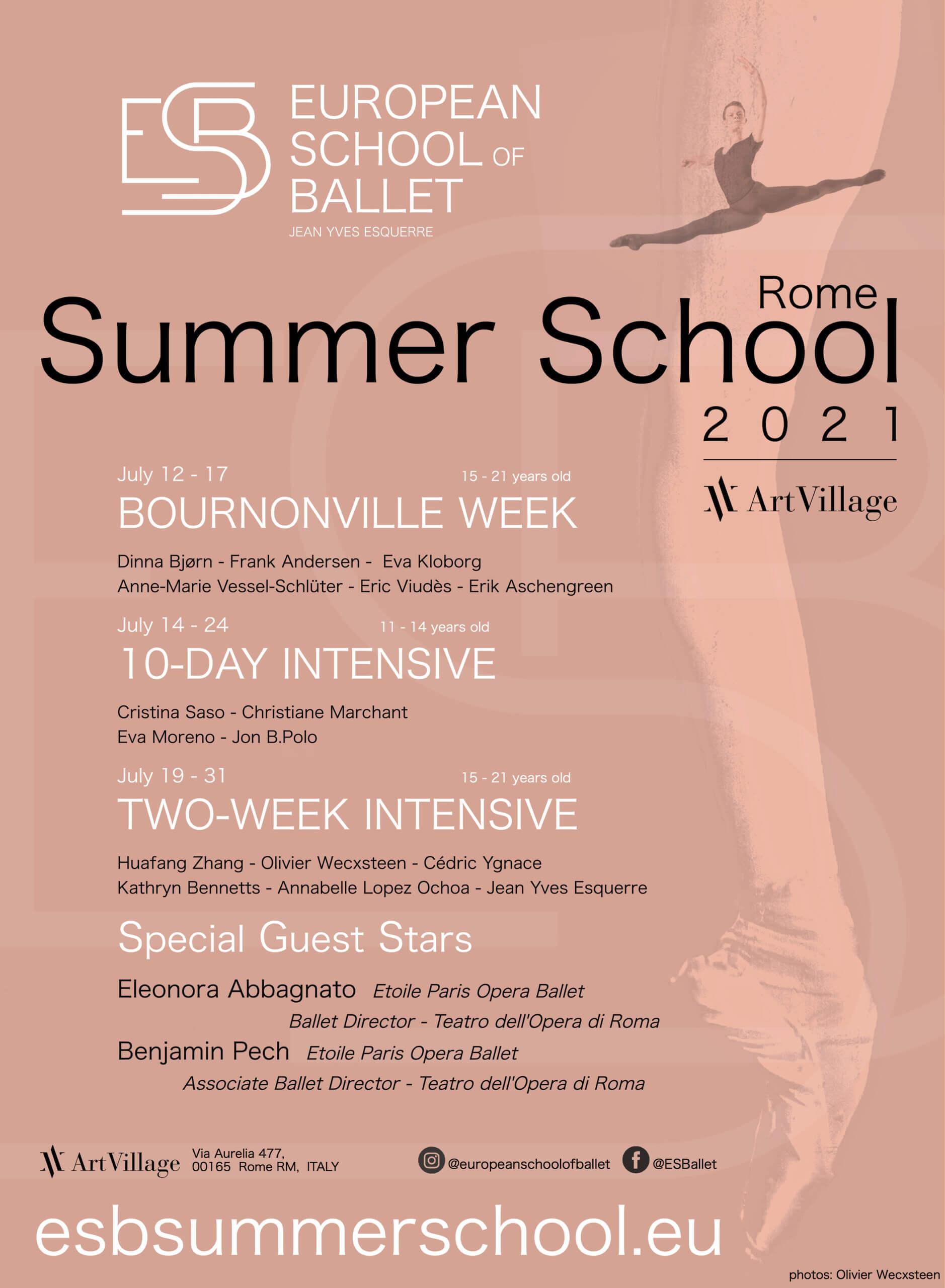 EUROPEAN SUMMER BALLET SCHOOL –  Questa estate ad Art Village